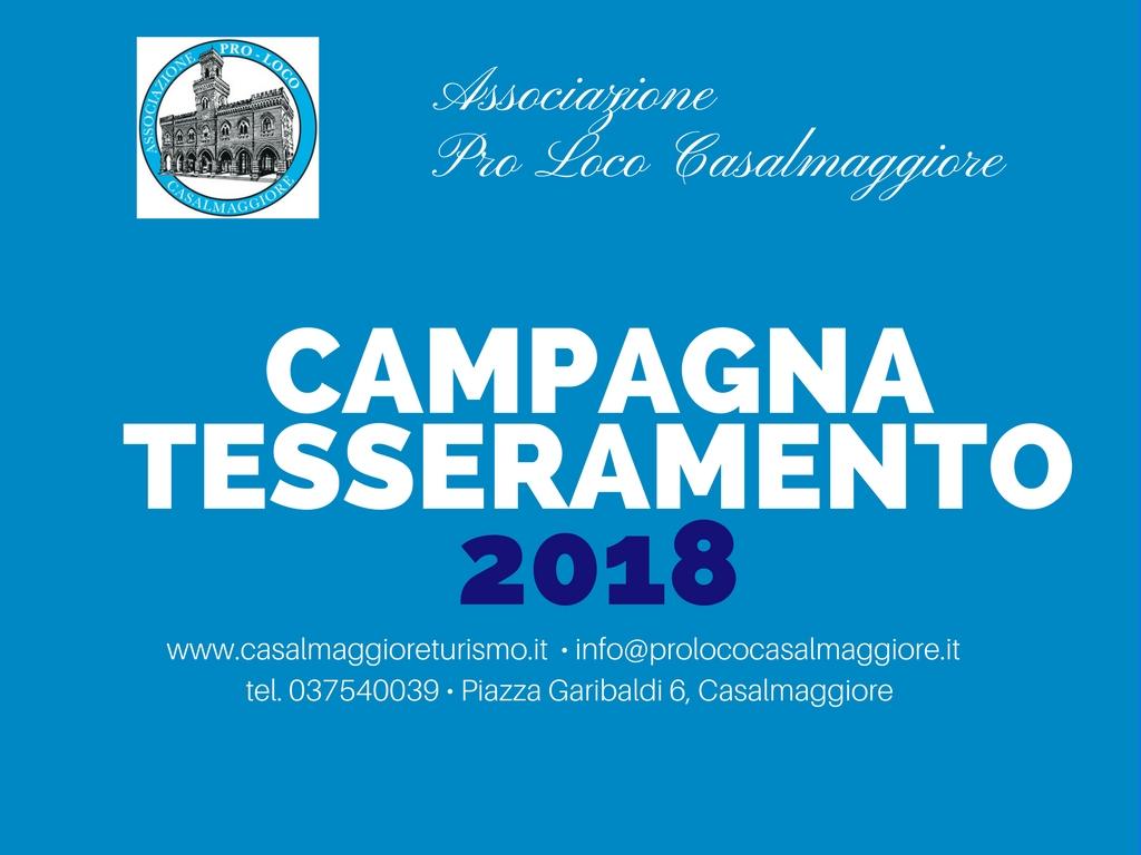 Campagna Tesseramento Pro Loco 2018