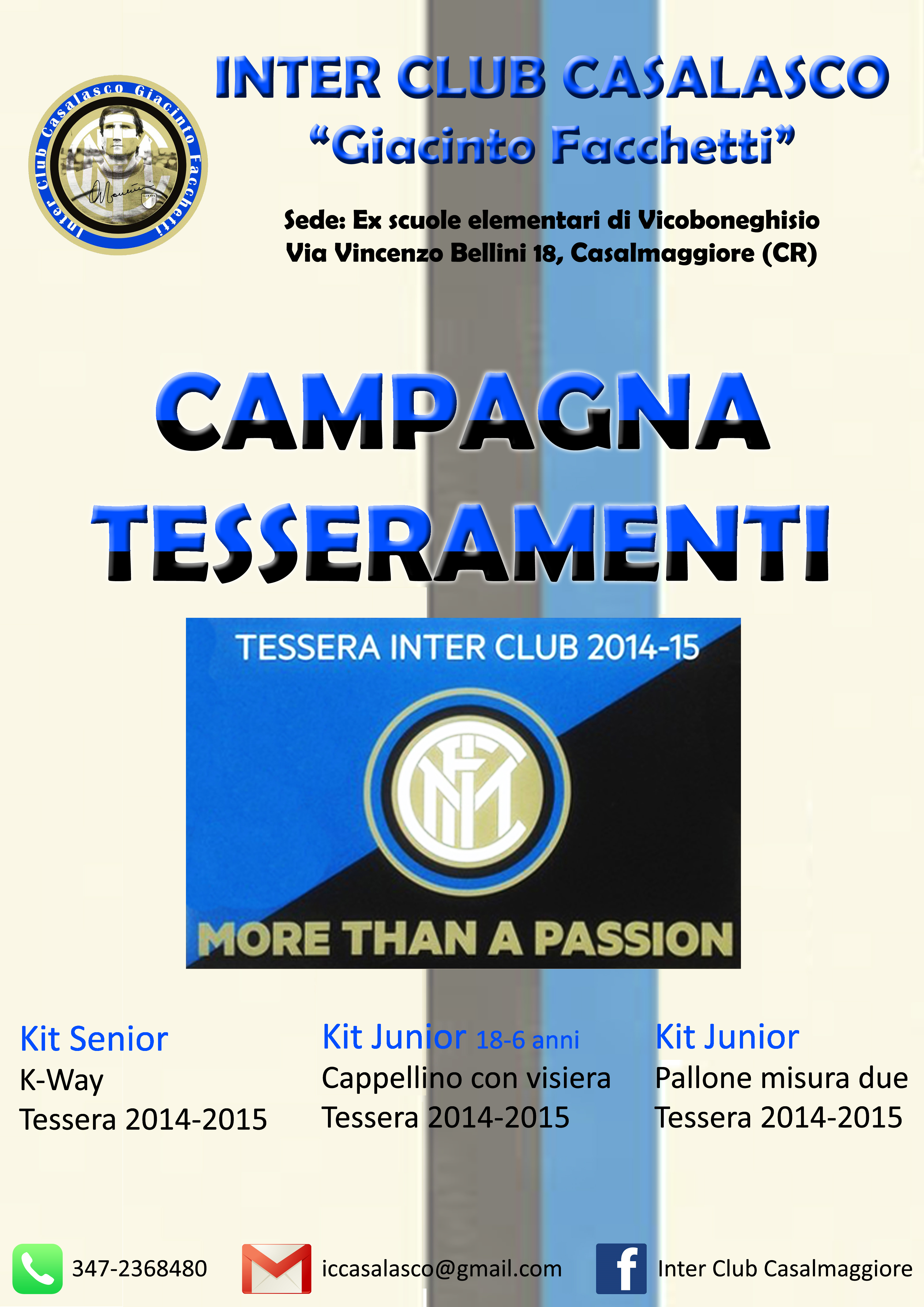 CAMPAGNA TESSERAMENTI INTER CLUB CASALASCO