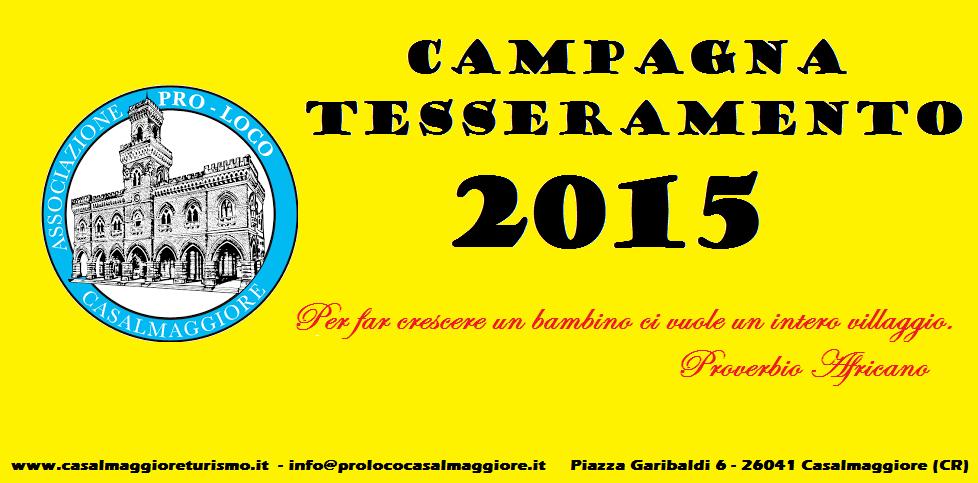 CAMPAGNA TESSERAMENTO PRO LOCO 2015