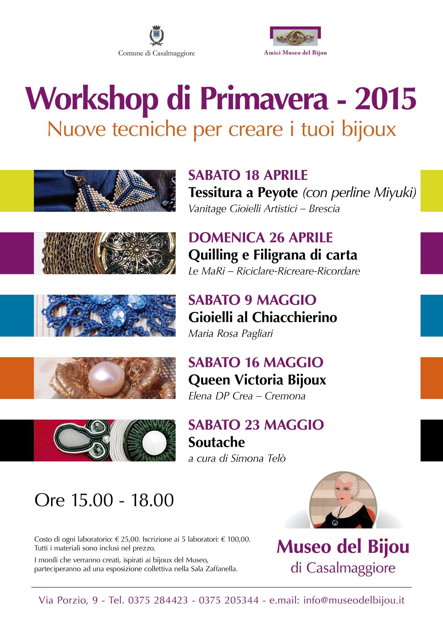 Workshop al Museo del Bijou!