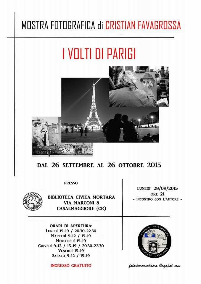 I VOLTI DI PARIGI – Mostra Fotografica di CRISTIAN FAVAGROSSA