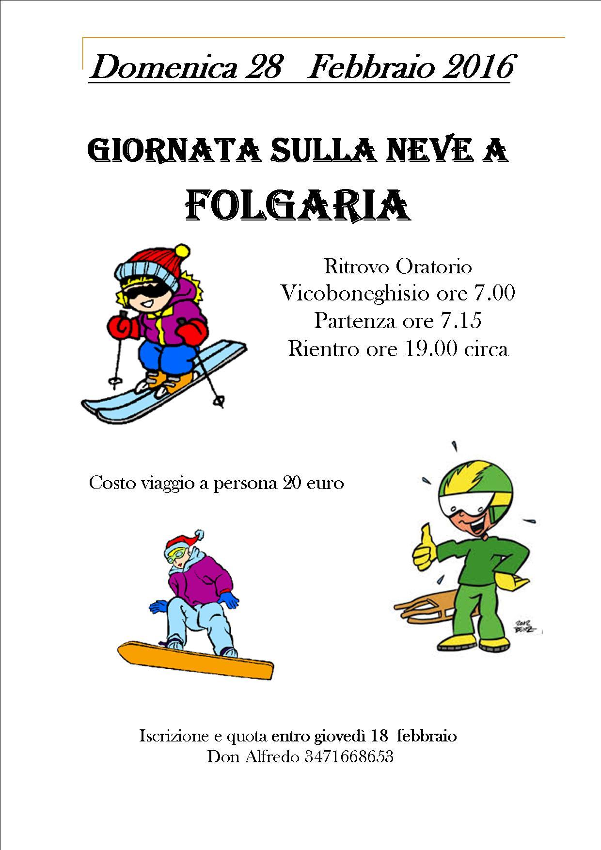 GITA SULLA NEVE A FOLGARIA
