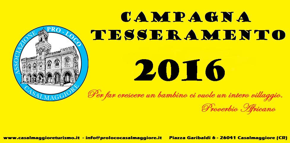 CAMPAGNA TESSERAMENTO PRO LOCO 2016
