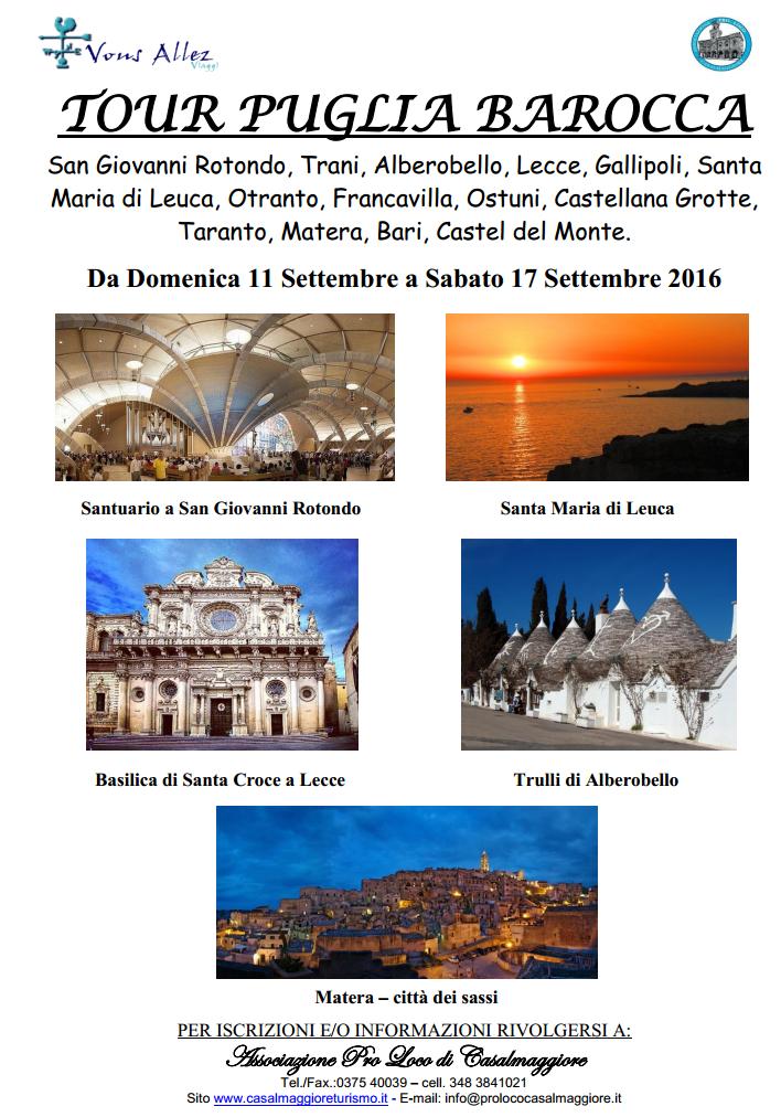 TOUR PUGLIA BAROCCA con la Pro Loco