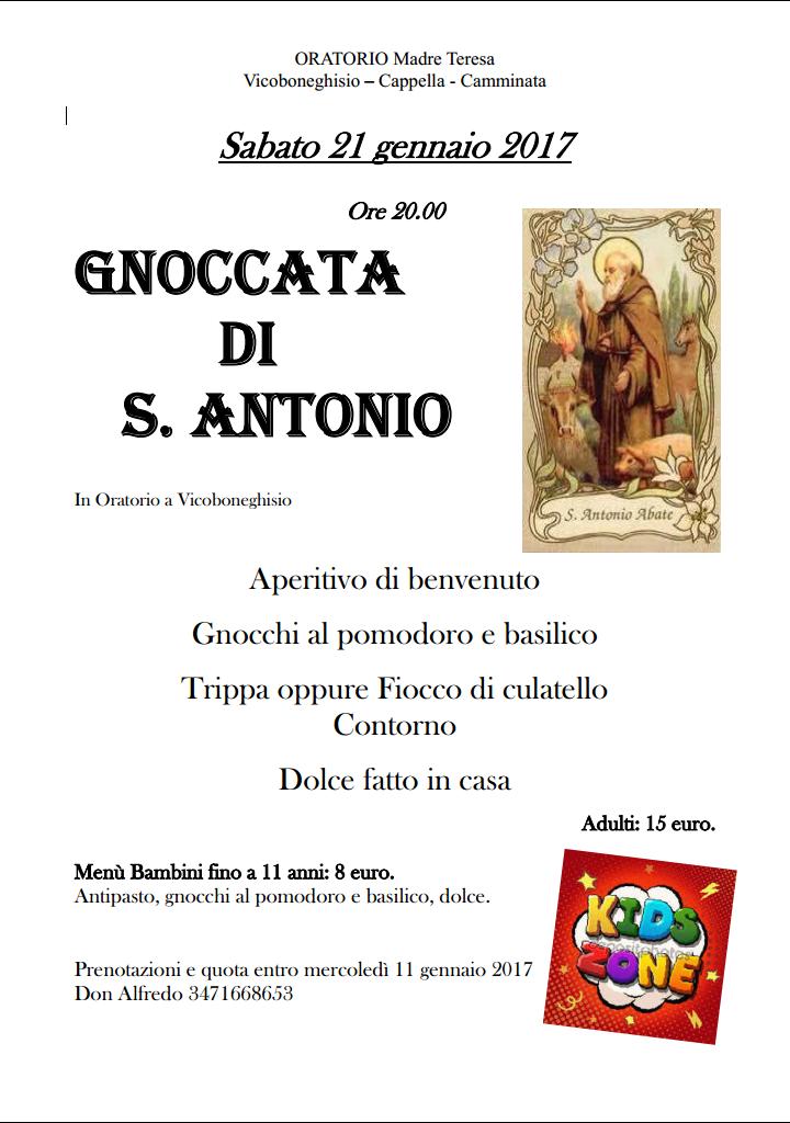 Gnoccata di Sant'Antonio – Oratorio Vicoboneghisio