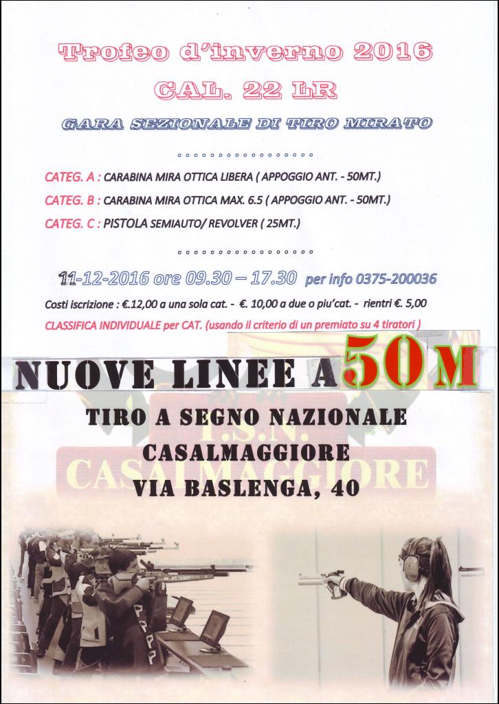 Trofeo d'Inverno 2016 di Tiro a Segno