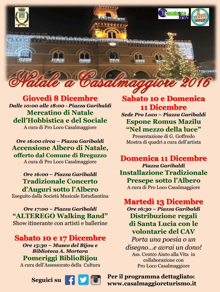 Natale a Casalmaggiore 2016 – Pro Loco, Comune e Associazioni di Casalmaggiore e frazioni