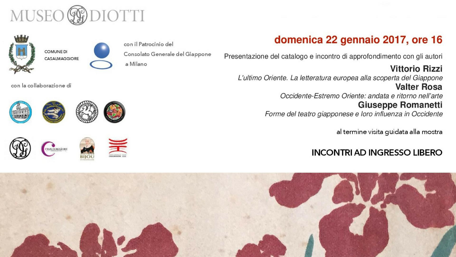 """Presentazione catalogo """"Un Po di Sol Levante"""" e incontro con gli autori – Museo Diotti"""