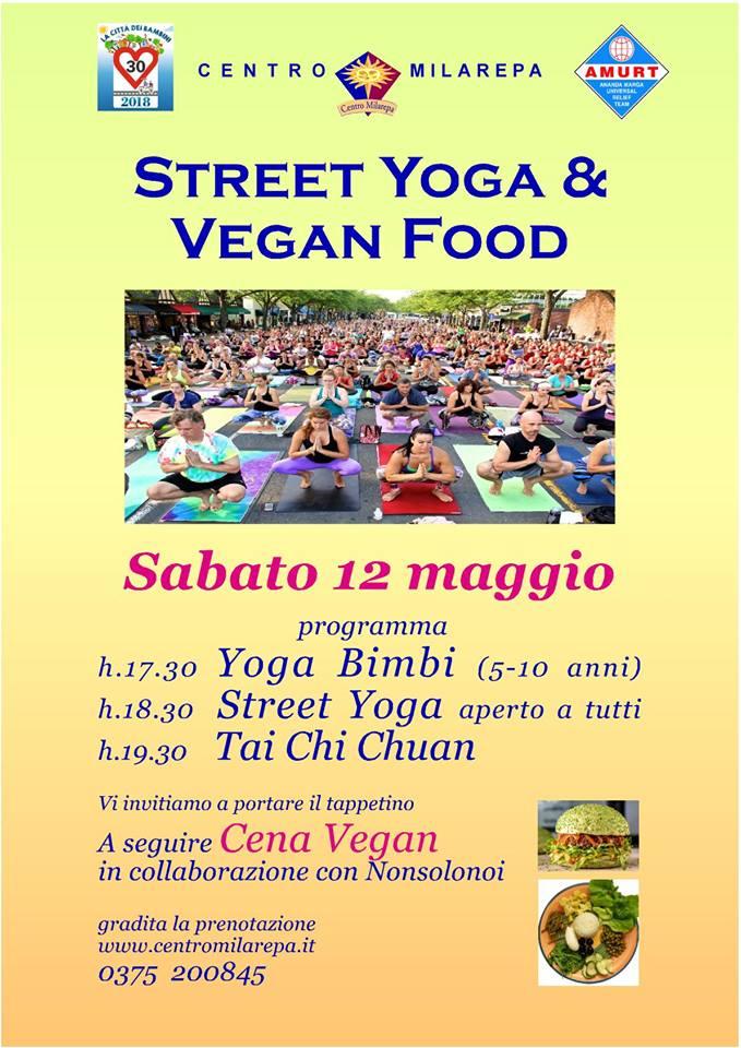 Street Yoga e Vegan food al CENTRO MILAREPA