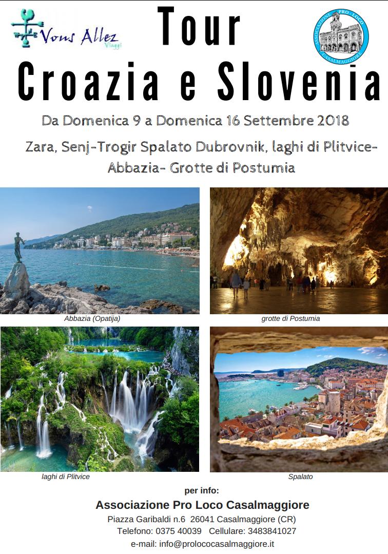 TOUR CROAZIA E SLOVENIA CON LA PRO LOCO